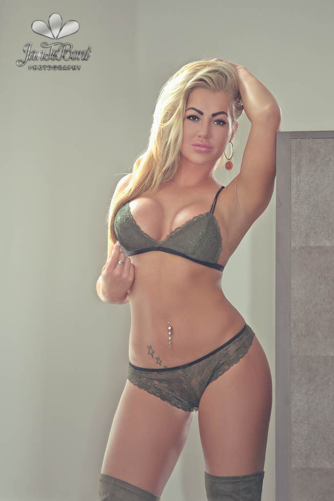 busty sexy blonde Michlle featured this month in JTB magazine