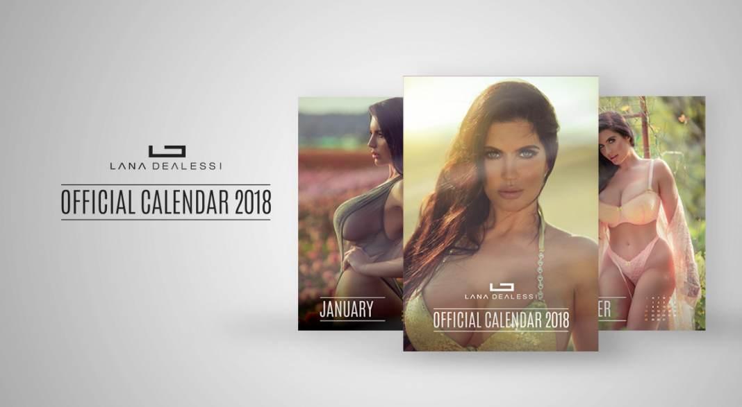 calendar 2018 lana dealessi glamour models